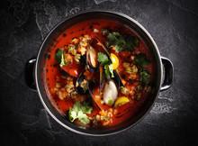 Mediterranean Cuisine. Mussel ...