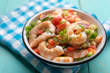 Mexican Shrimp Ceviche With To...