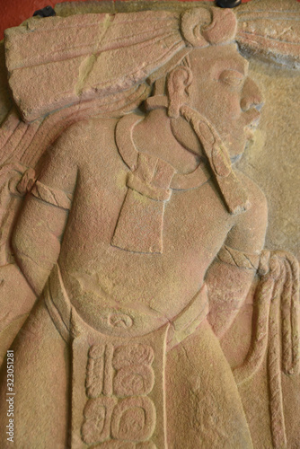 Photo Bas-relief maya à Tonina, Mexique