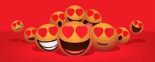 Heart Eyes In Love Emoji Group...