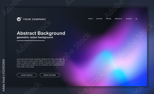 Fotografía Trendy abstract liquid background for your landing page design
