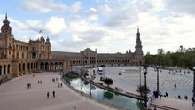 The Plaza De España, In Sevil...