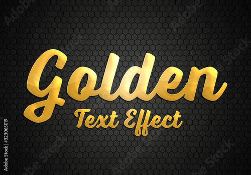 Fototapeta Gold Style Text Effect Mockup obraz