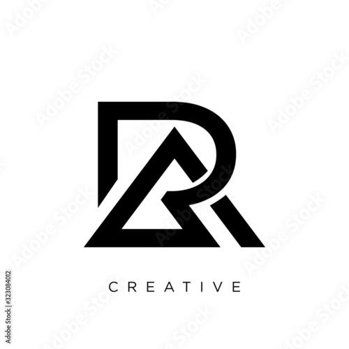 Photo ra or ar logo design vector icon