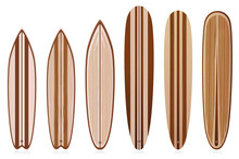 Vector Wooden Surfboards Colle...
