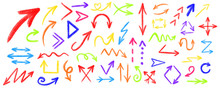 Arrow Grunge Vector Set. Arrow Texture Vector Set. Arrow Chalk Vector Set . Arrows