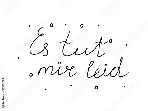 Es tut mir leid phrase handwritten with a calligraphy brush Wallpaper Mural