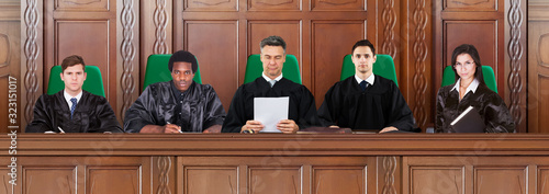 Judges At Trial Hearings Fototapet