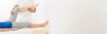 Masseur Giving Leg Massage To ...
