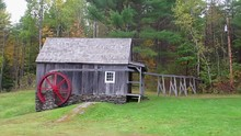Old Wooden Mill Shed In Rural ...