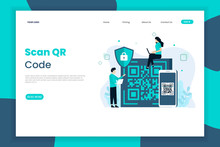 QR Code Scanning Landing Page Template. Scan QR Code For Payment And Everything.