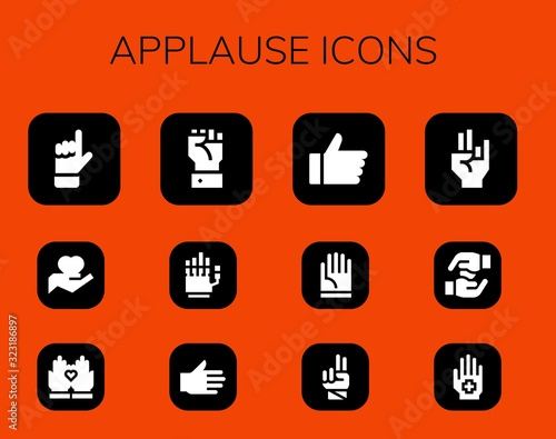 Photo applause icon set