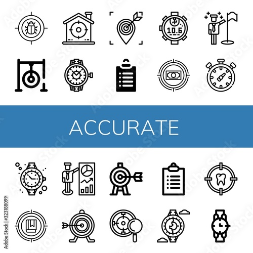 accurate icon set Wallpaper Mural