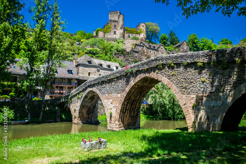 Belcastel, Aveyron, Occitanie, France. Wallpaper Mural