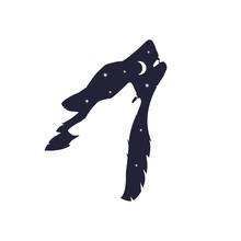 Wild Wolf Head Silhouette