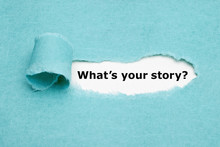 What Is Your Story Blue Paper ...
