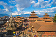 Leinwanddruck Bild - scenery of Patan Durbar Square at Kathmandu, Nepal