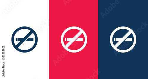 No smoking icon for web and mobile Canvas Print