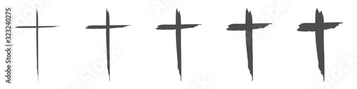 Slika na platnu Set hand drawn cross