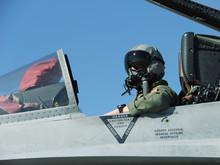 Navy Fighter Pilot In A F-18
