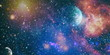 Fiery explosion in space. Colorful deep space. Universe concept background. Elements of this image furnished by NASA