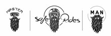 Sketch Of Hipster Rider Wearin...