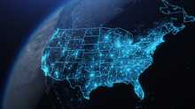 3D Illustration Of USA And Nor...