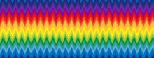 Fond Zigzags Arc-en-ciel
