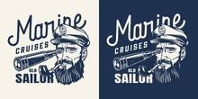 Vintage Marine Cruise Monochrome Label