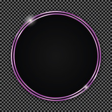 Round Button With Purple Frame...