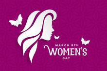 Happy Womens Day Lovely Purple...