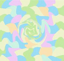 Colorful Pastel Vortex Polka D...