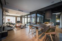 Interior Of A Open Plan Living...