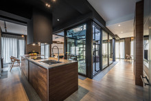 Kitchen Interior In Modern Lux...