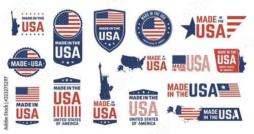 Photographie Made in USA badges
