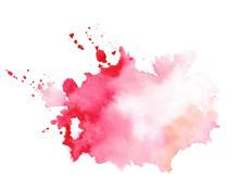 Stylish Red Watercolor Splatte...