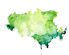 Abstract Green Watercolor Stain Texture Background Design