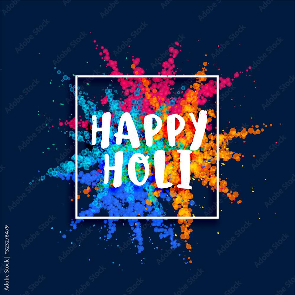 Fototapeta happy holi festival color powder burst background