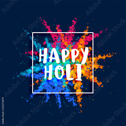 Fototapeta happy holi festival color powder burst background obraz