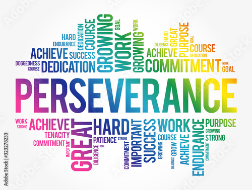Perseverance word cloud collage, business concept background Fototapet
