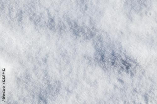 Valokuva Snow background texture on white sunny winter mood day