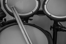 Drumsticks Resting On Snare Drum