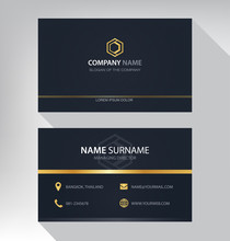 Business Card In Modern Luxury...