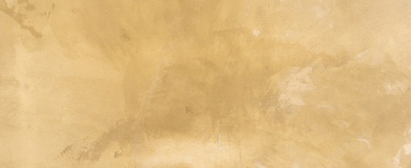 close up retro plain sepia and tan color cement wall   panoramic background t...