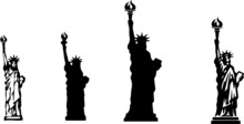 Statue Of Liberty Icon Isolate...