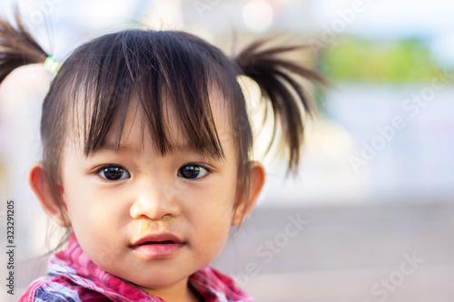 Obraz na plátně Portrait image of 1-2 years old baby