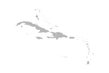 Caribbean Island Map Vector Gr...