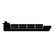 Cargo Ship Icon On White Background