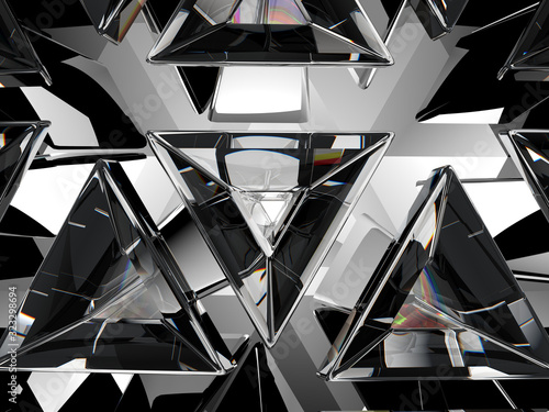 Fototapeta Diament  gemstone-or-diamond-texture-closeup-and-kaleidoscope