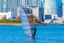 Windsurfer. Man Is Surfing On ...